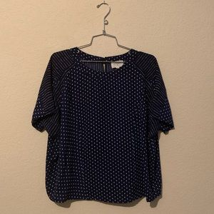 Everly Navy & White Pattern Blouse